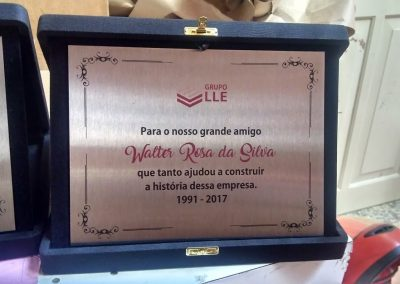 homenagem placas de aniversario inox rj